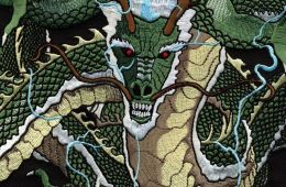 dragon on embroidered patch