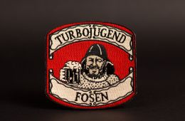 embroidered patch for turbojugend fosen