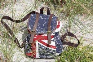 How to sew flag patches on backpack